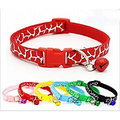 お買い得  犬用首輪/リード/ハーネス-ネコ 犬 カラー 携帯用 高通気性 折り畳み式 アニマルプリント ナイロン ブラック レッド ブルー