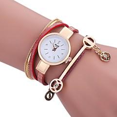 Mujer Reloj de Moda Reloj Pulsera Simulado Diamante Reloj Chino Cuarzo PU Banda Casual Negro Blanco Azul Marrón Rosa