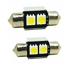 sencart 2pcs 31mm fantoche levou bulbo 5050smd levou interior mapa dome porta lâmpadas lâmpadas 12v