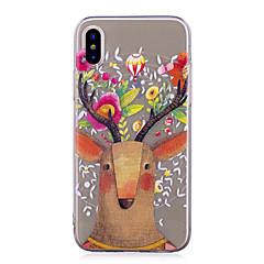 Кейс для Назначение iPhone X iPhone 8 iPhone 8 Plus IMD Прозрачный С узором Задняя крышка Животное Рождество Мягкий TPU для iPhone X