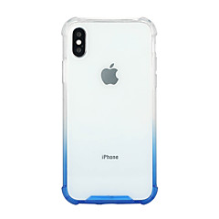 Недорогие Кейсы для iPhone 7 Plus-Кейс для Назначение Apple iPhone X iPhone 8 Plus Защита от удара Прозрачный Кейс на заднюю панель Градиент цвета Твердый Акрил для iPhone