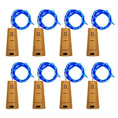 billiga LED-ljusslingor-BRELONG® Ljusslingor 10 lysdioder Varmvit Vit Lila Grön Blå Vattentät <5V
