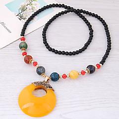 preiswerte Halsketten-Damen Lang Anhängerketten - Harz Europäisch, Modisch Rot, Hellblau, Dunkelgrün Modische Halsketten Für Alltag