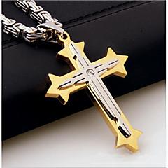 Муж. Ожерелья с подвесками Крест Серебрянное покрытие Сплав На каждый день Бижутерия Назначение Для улицы На выход
