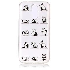 Case Kompatibilitás LG K8 (2017) K10 (2017) Ultra-vékeny Átlátszó Dombornyomott Minta Hátlap Panda Puha TPU mert LG K10 (2017) LG K8