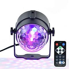 1 stk mini rgb 3w krystal magisk bold ledet fase lampe dj ktv disco laser lys fest lys lyd ir fjernbetjening jule projektor ac100-240v