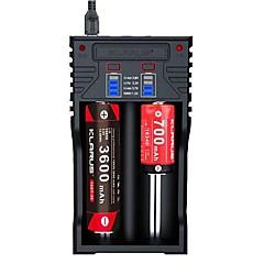 halpa -KLARUS K2 Akkulaturi lm Automaattinen Tila Kannettava Ammattilais Universaali Korkealaatuinen Latausilmaisin USB-latausliitännällä Quick