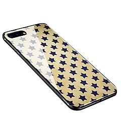 Недорогие Кейсы для iPhone 6-Кейс для Назначение Apple iPhone X iPhone 8 Plus С узором Кейс на заднюю панель Плитка Мягкий Закаленное стекло для iPhone X iPhone 8