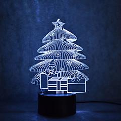 preiswerte Ausgefallene LED-Beleuchtung-1pc 3D Nachtlicht Berühren Sie 7-Color Mit USB-Anschluss