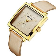 preiswerte Tolle Angebote auf Uhren-Damen Armbanduhr Armbanduhren für den Alltag / Cool Echtes Leder Band Luxus / Freizeit / Modisch Schwarz / Khaki / Wie abgebildet