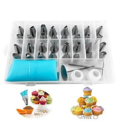 38pcs/set Russian Piping Pastry Bag Stainless Steel Nozzle Set Icing Piping Tubes Bakeware Cake Dessert