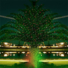abordables Luces Decorativas para Celebración-Proyector hkv® full sky star christmas láser lámpara verde&Luz de escenario led roja al aire libre jardín césped luz