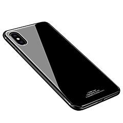 Недорогие Кейсы для iPhone 7 Plus-Кейс для Назначение Apple iPhone X iPhone 8 Защита от удара Ультратонкий Кейс на заднюю панель Сплошной цвет Твердый Закаленное стекло для