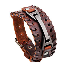 cheap Bracelets-Men's Leather Bracelet Oversized Rock Hiphop Statement Jewelry Dermis Jewelry Jewelry For Daily Casual