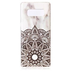 billige Galaxy Note 3 Etuier-Etui Til Samsung Galaxy Note 8 Note 5 Mønster Bagcover Mandala-mønster Marmor Blødt TPU for Note 8 Note 5 Edge Note 5 Note 4 Note 3 Lite