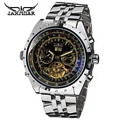 お買い得  メンズ腕時計-Jaragar 男性用 リストウォッチ 自動巻き カレンダー クール ステンレス バンド ハンズ カジュアル ファッション ブラック 銀色 / ホワイト ブラック / シルバー