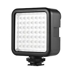 w49 mini interlock kamera ledd panel ljus dimmerbar videokamera video belysning med skon montering adapter för Canon Nikon Sony A7 DSLR