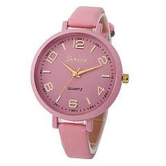 preiswerte Damenuhren-Damen Quartz Armbanduhr Chinesisch Chronograph / Wasserdicht Leder Band Freizeit / Böhmische / Modisch Schwarz / Weiß / Rot / Braun /