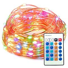 お買い得  LED ストリングライト-10m ストリングライト 100 LED 1210 SMD リモートコントロール / 調光可能 12 V 1個 / IP65
