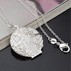 Dam Hänge Halsband Geometrisk Försilvrad Mode Smycken Till Dagligen