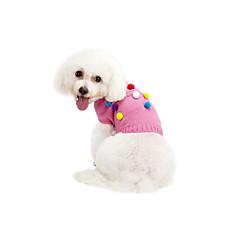 Kat Hund Bluser Hundetøj Nylon Forår/Vinter Vinter Afslappet/Hverdag Hold Varm Polka Prikker Grå Lys pink For kæledyr
