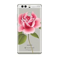 halpa Uudet tuotteet-Etui Käyttötarkoitus Huawei P9 P10 Läpinäkyvä Kuvio Takakuori Kukka Pehmeä TPU varten Huawei P10 Plus Huawei P10 Lite Huawei P10 Huawei