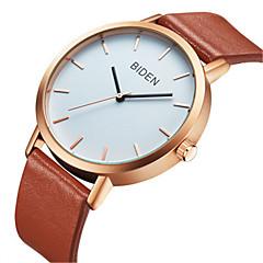 preiswerte Damenuhren-BIDEN Damen Armbanduhr Chinesisch Armbanduhren für den Alltag Echtes Leder Band Freizeit / Modisch / Elegant Schwarz / Braun / Edelstahl