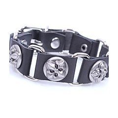 preiswerte Armbänder-Herrn Armband / Gliederarmband - Leder Retro, Rockig Armbänder Schwarz / Kaffee Für Normal / Klub