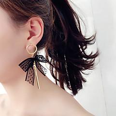 Naisten Pisarakorvakorut Korea Muoti Kangas Metalliseos Bowknot Shape Korut Käyttötarkoitus Party Päivittäin