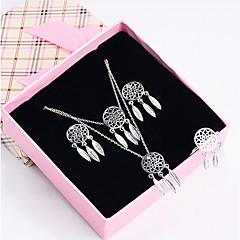 voordelige Sieradenset-Dames Druppel oorbellen Elegant Verzilverd Verguld Dromenvanger 1 Ketting 1 Armband 1 Ring Oorbellen