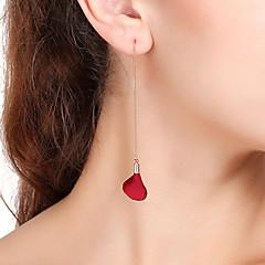 preiswerte Ohrringe-Damen Tropfen-Ohrringe Ohrringe baumeln Blumig Süß Kupfer Stoff Linienform Schmuck Party Verabredung