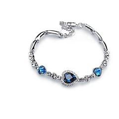 Dames Armband Synthetische Diamant Klassiek Modieus Edelsteen Legering Drop Sieraden Voor Verloving Ceremonie