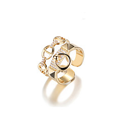 cheap Rings-Women's Alloy Cuff Ring - One-piece Suit Geometric Metallic Korean Gold Ring For Other Gift