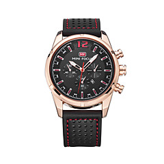 Men's Fashion Watch Quartz Calendar Water Resistant / Water Proof Leather Band Casual Black Brown
