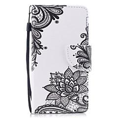 halpa Uudet tuotteet-Etui Käyttötarkoitus Huawei P8 Lite (2017) P10 Lite Lomapkko Korttikotelo Tuella Flip Kuvio Kokonaan peittävä Kukka Kova PU-nahka varten