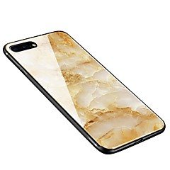 Кейс для Назначение Apple iPhone X iPhone 8 Plus С узором Задняя крышка Мрамор Мягкий Закаленное стекло для iPhone X iPhone 8 Plus iPhone