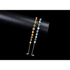 preiswerte Armbänder-Damen Synthetischer Saphir Ketten- & Glieder-Armbänder / Tennis Armbänder - Strass Armbänder Gold / Blau Für Hochzeit / Party