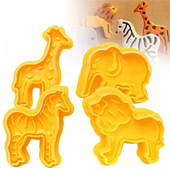 رخيصةأون -قاطعات بسكويت فيل أسد حمار الوحش حيوان الكرتون على شكل لكاندي لكوكي لالشوكولاته بسكويت كعكة البلاستيك