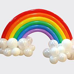 voordelige -regenboog ballon set verjaardagsfeestje bruiloft decor (20 lange ballon, 16 ronde ballon