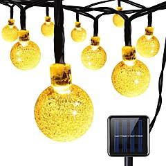 お買い得  LED ストリングライト-7m ストリングライト 100 LED 温白色 充電式 <5 V 1個 / IP65