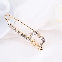 Damskie Broszki Rhinestone Prosty Elegancki Kryształ górski Stop Biżuteria Na Codzienny Casual