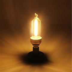 baratos Lâmpadas de LED-1pç 5W 400lm E14 Lâmpadas de Filamento de LED C35 4 Contas LED COB Branco Quente 220-240V