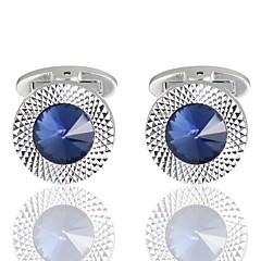 olcso Mandzsettagomb-Gyémánt Kék Manžete Réz Romantikus Randi Férfi Jelmez ékszerek