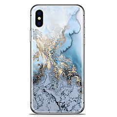 billige iPhone 6 Plus Plus-etuier-Etui Til Apple iPhone X iPhone 8 Plus Mønster Bagcover Marmor Blødt TPU for iPhone X iPhone 8 Plus iPhone 8 iPhone 7 Plus iPhone 7 iPhone