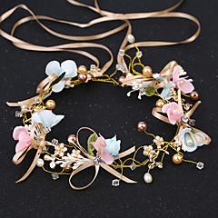 Damă Imitație de Perle Ștras Toate Sezoanele Asiatic Stil Oficial Stil Clasic Imitație de Perle,Bandană
