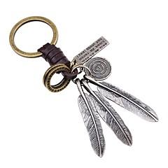 お買い得  キーホルダー-キーチェーン ゴールド 翼 / 羽 レザー, 合金 シンプル, クラシック 用途 パーティー / ストリート