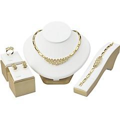 voordelige Sieradenset-Dames Kubieke Zirkonia Bergkristal Kubieke Zirkonia Titanium Staal Voor Bruiloft AvondFeest Giften van het Huwelijk