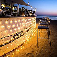 preiswerte LED Lichtstreifen-96 LED 1.5m x 1.5m führten Netzkettenlicht 8 Modi für Weihnachtshochzeitsfeiertagsdekoration
