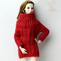 Blusas Fashion Blusa Para Boneca Barbie Vermelho Blusas Para Menina de Boneca de Brinquedo