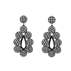 Women's Hoop Earrings , Basic Fabric Alloy Geometric Button Jewelry For Going out Club